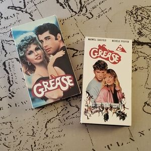 VHS Tapes of Grease and Grease 2